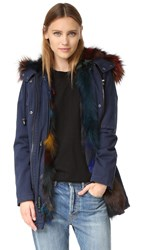 Jocelyn Cargo Coat Dark Multi