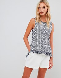 Urban Bliss Vest With Tassels Blue
