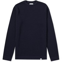 Norse Projects Skagen All Over Bubble Knit Blue