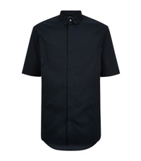 3.1 Phillip Lim Combo Collar Short Sleeve Shirt