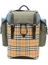 Burberry Iconic Check Backpack Neutrals