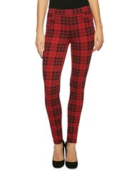 Sanctuary Grease Janis Plaid Leggings Red