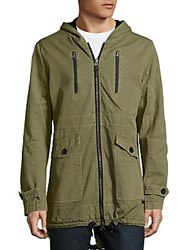 Civil Society Castro Solid Cotton Zipper Jacket Olive Green