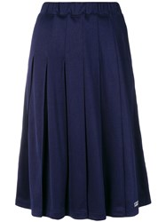 Stussy Pleated Midi Skirt Blue