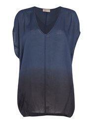 Label Lab Dip Dye Cocoon Blouse Navy