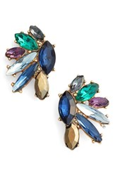 Marchesa Women's Regal Affair Cluster Earrings
