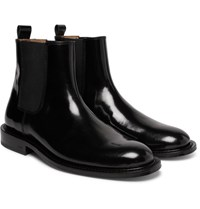 Ami Alexandre Mattiussi Polished Leather Chelsea Boots Black