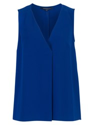 French Connection Sleeveless Crepe Top Blue Depths