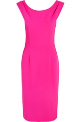 Goat Rex Wool Crepe Dress Bright Pink