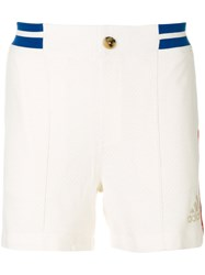 Adidas Ny Colour Block Shorts Polyester Wool White