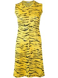 Aries Tiger Print Dress Yellow Orange