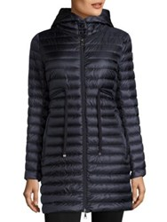Moncler Barbel Hooded Down Puffer Coat Navy Black