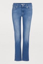 7 For All Mankind Roxanne Jeans With Contrasting Stitching Slim Illusion Lux Fairfax