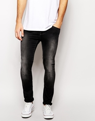 United Colors Of Benetton Skinny Black Distressed Jeans