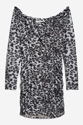 Wyldr Annalisa Grey Leopard Shift Dress By