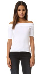 Feel The Piece Off Shoulder Top White