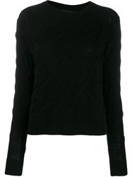 Theory Long Sleeved Sweater Black