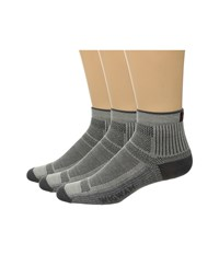 Wigwam Ultra Cool Lite Quarter 3 Pack Grey Quarter Length Socks Shoes Gray