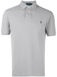 Polo Ralph Lauren Logo Embroidered Shirt Grey