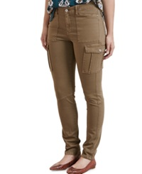 Violeta By Mango Plus Size Skinny Cargo Pants Dark Brown
