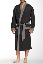 Majestic Lounge Double Knit Kimono Robe Black