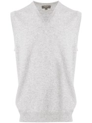 N.Peal Cashmere The Westminster Vest Grey