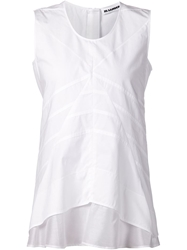 Jil Sander Sleeveless Top With Stitching Details White