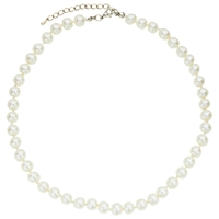 John Lewis Short 8Mm Pearl Necklace White