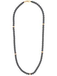 Roman Paul Beaded Necklace Grey