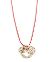 Design Lab Lord And Taylor Disc Pendant Necklace Goldtone