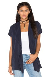 York Street Wrap Vest Navy
