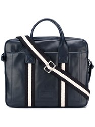 Bally Striped Detail Laptop Case Blue
