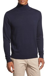 Men's Nordstrom Long Sleeve Merino Wool Turtleneck Sweater Navy Night