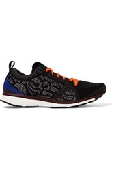 Adidas By Stella Mccartney Adizero Adios Mesh And Rubber Sneakers Black