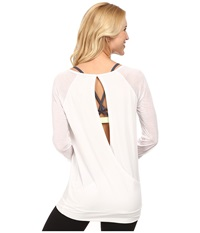 Lole Orchid Top White Women's Long Sleeve Pullover