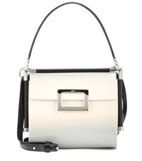 Roger Vivier Miss Viv' Carre Small Patent Leather Shoulder Bag White