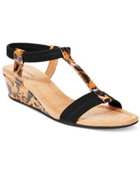 Alfani Women's Voyage Wedge Sandals Only At Macy's Women's Shoes Leopard Black