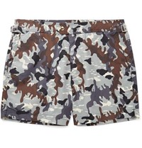 Tom Ford Mid Length Camouflage Print Swim Shorts Gray