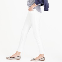 J.Crew Petite Stretch Toothpick Cone Denim Jean In White