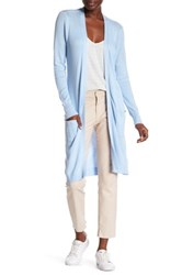 Joseph A Pointelle Duster Cardigan Blue