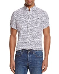 Bloomingdale's The Men's Store At Floral Regular Fit Button Down Shirt Navy