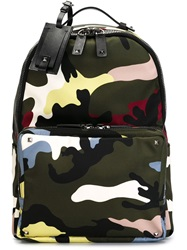 Valentino Garavani Camouflage Backpack Green