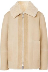 Bottega Veneta Shearling Jacket Beige