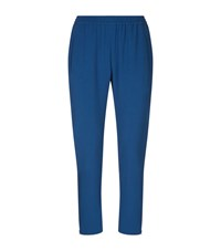 Stella Mccartney Tamara Crepe Joggers Female Navy