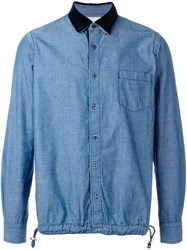 Sacai Denim Drawstring Shirt Blue