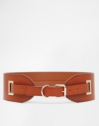 Vero Moda Wide Belt With Skinny Buckle Tan