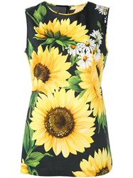 Dolce And Gabbana Sunflower Print Tank Top