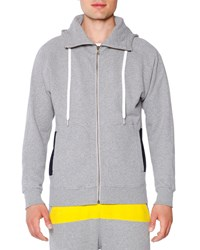 Tomas Maier Zip Up Hooded Sweatshirt Dark Gray