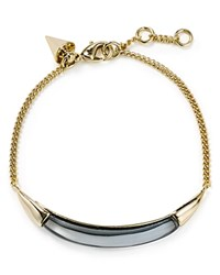Alexis Bittar Lucite Id Curb Chain Bracelet Cool Gray Clear