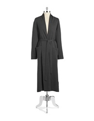 Lord And Taylor Cashmere Long Robe Charcoal